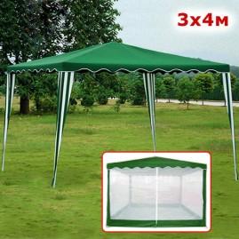 Садовый шатер 3х4м зеленый