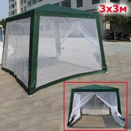 Садовый шатер трапеция 3х3м зеленый