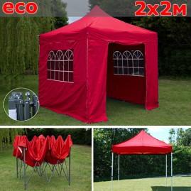 Быстросборный шатер со стенками 2х2м красный