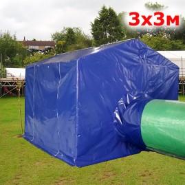 Палатка для сварщика 3х3м синий