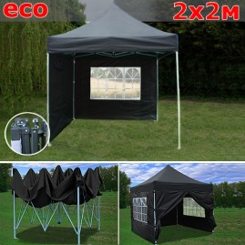 Быстросборный шатер со стенками 2х2м черный