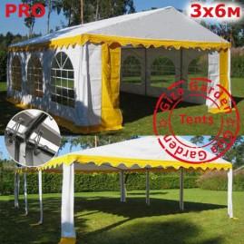 Шатер Giza Garden 3x6м белый желтый