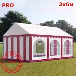 Шатер Giza Garden 3x6м красно-белый